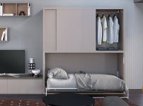 Nikai sliding wardrobe with foldaway bed